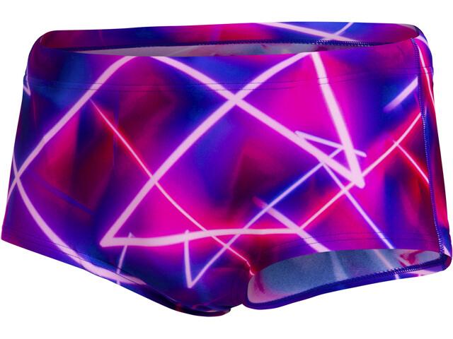 speedo 17cm Club Training Allover Briefs Men, lazerrave ultraviolet/punchy pink